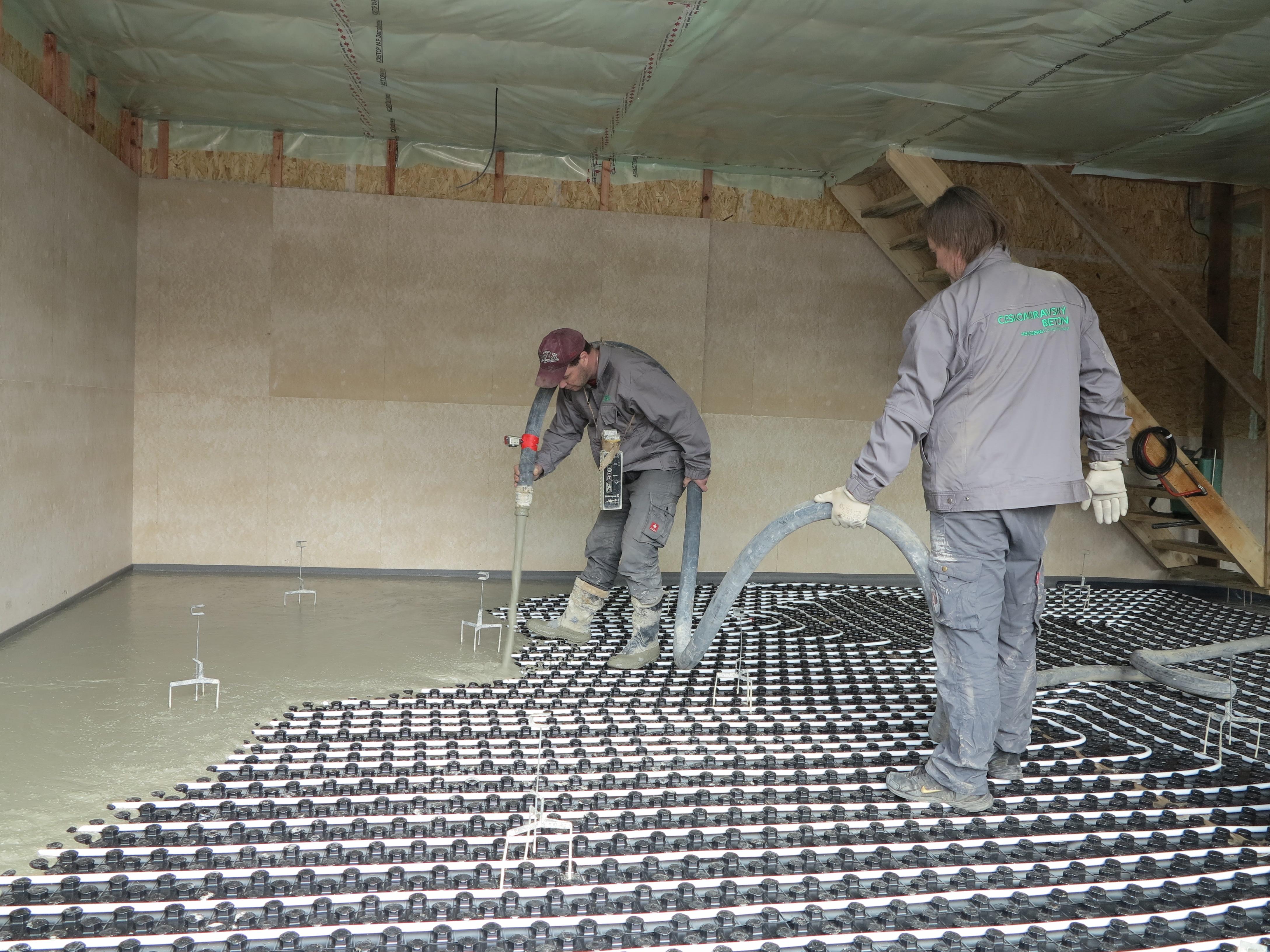 Betonové mazaniny a cementové potěry